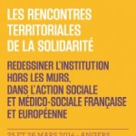 "COLLOQUE ""REDESSINER L'INSTITUTION HORS LES MURS"" INSET ANGERS 25-26 MARS"