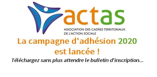 Campagne adhésion 2020